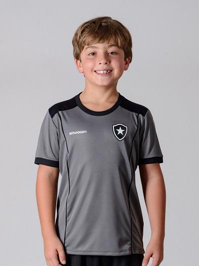 823d026990d25 Camisa Braziline Botafogo Infantil Slide - Cinza - Titanes Esportes