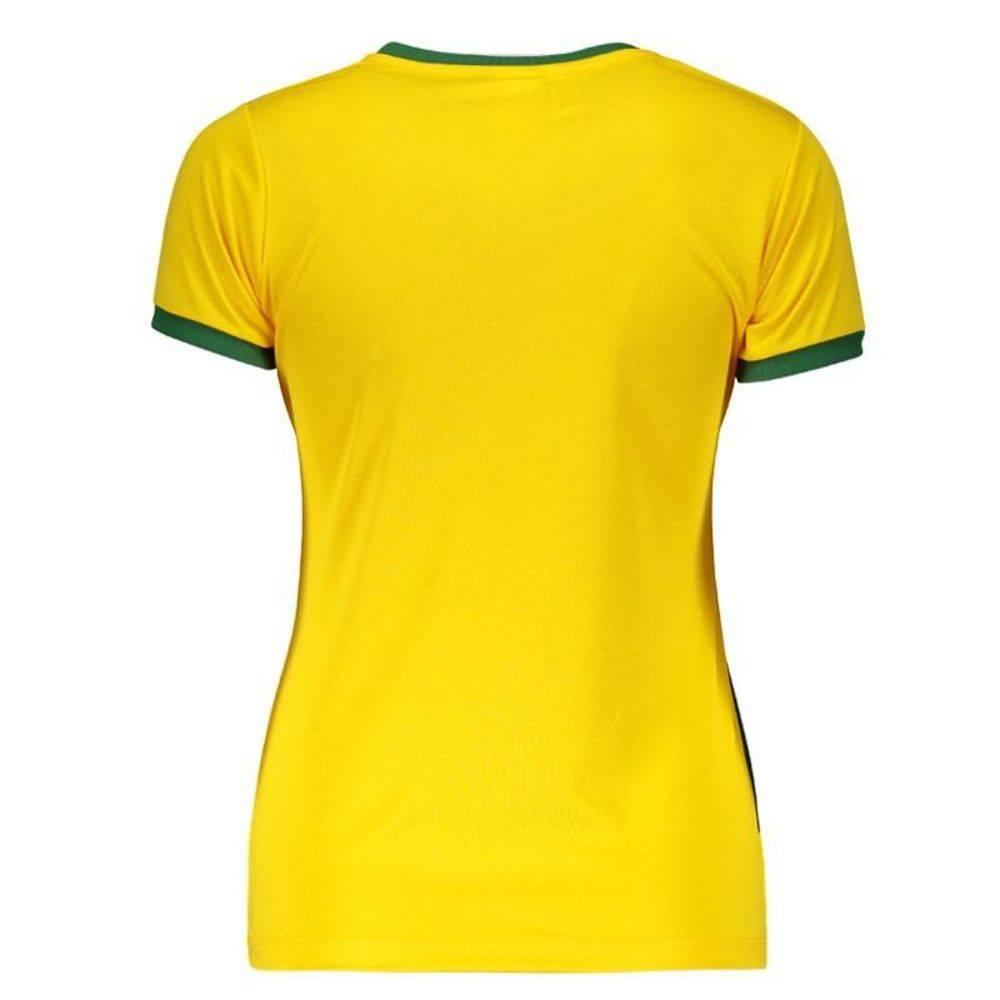Camisa Braziline Brasil / Vasco Feminina - Amarela