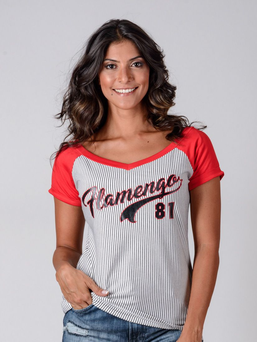 66ef850f007d9 Camisa Braziline Flamengo Feminina Glee - Listrada - Titanes Esportes
