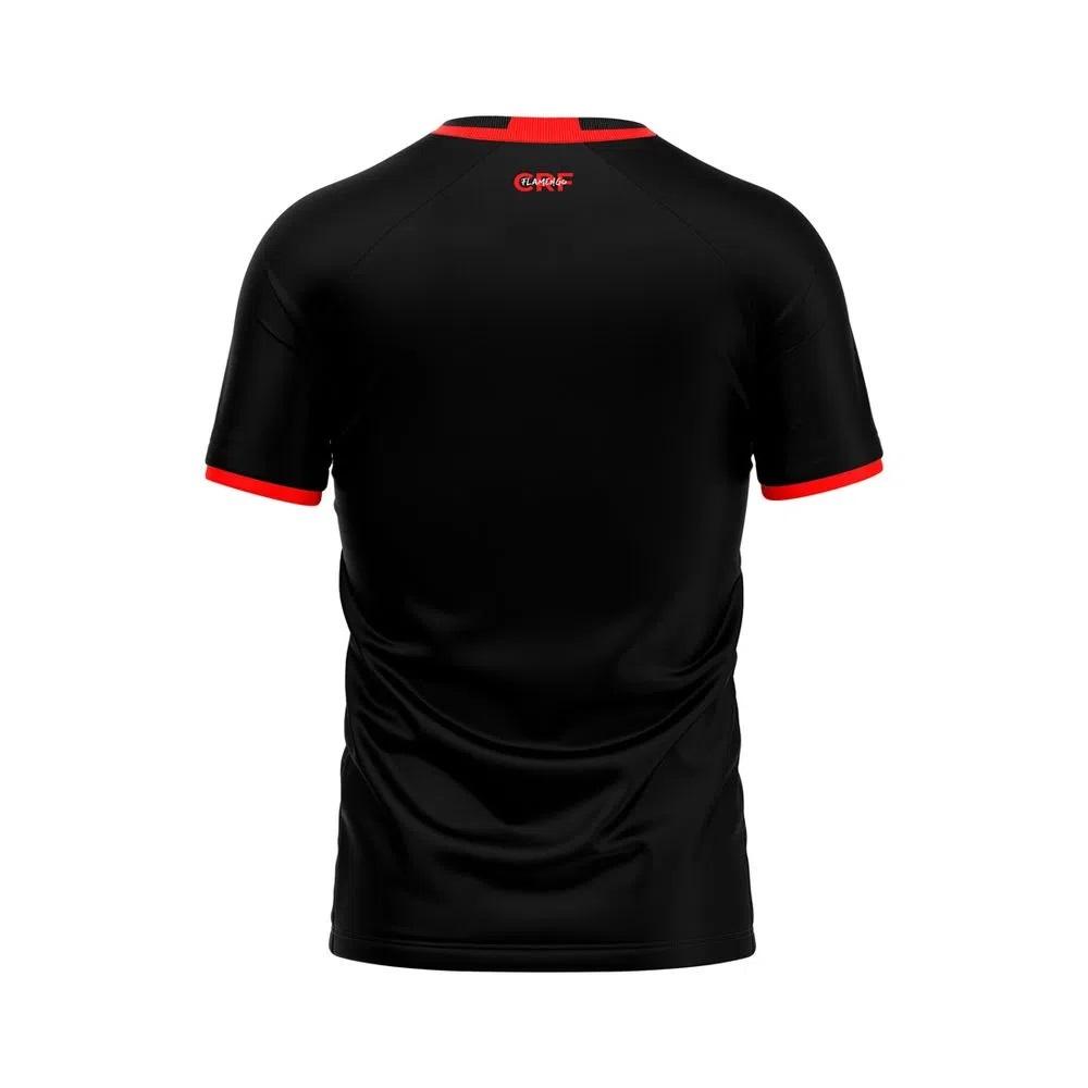 Camisa Braziline Flamengo Gentle Infantil - Preto / Vermelho