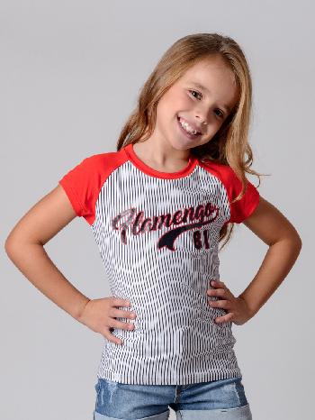 1ed882c4ec Camisa Braziline Flamengo Infantil Glee - Listrada - Titanes Esportes
