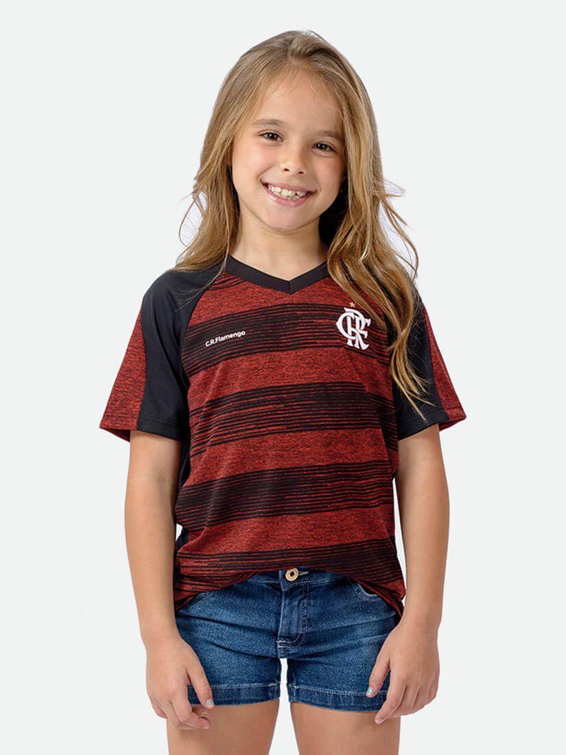 Camisa Braziline Flamengo Motion Infantil - Vermelho