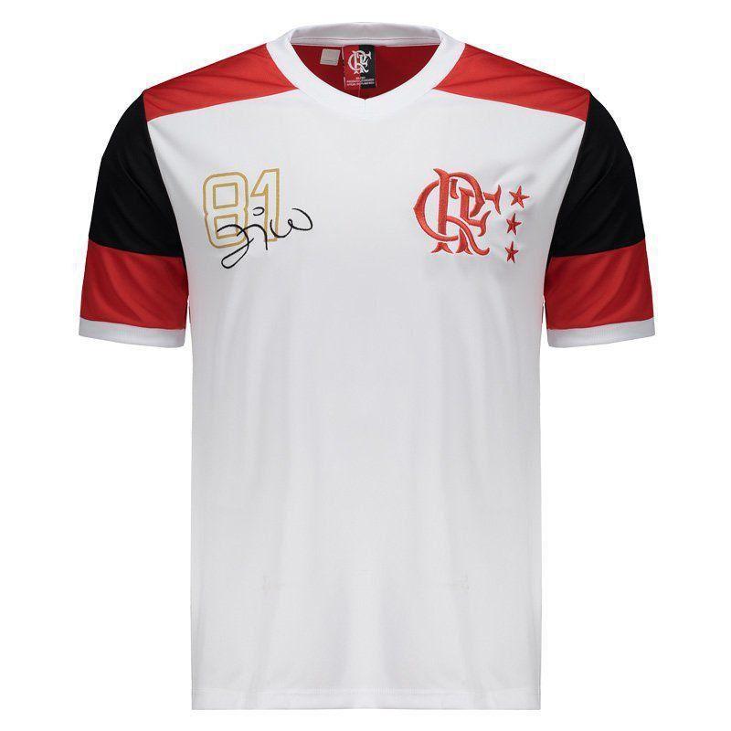 Camisa Braziline Flamengo Zico Retrô Pala - Branco - Titanes Esportes 526524dc61d6d