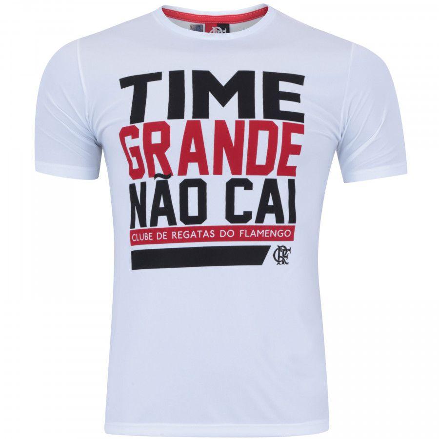 Camisa Braziline Masculina Flamengo Fall - Branca - Titanes Esportes 67e4eaea80057