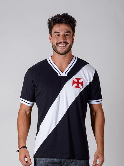 Camisa Braziline Vasco 74 Retrô - Preto