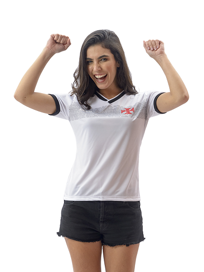 Camisa Vasco Evoke Braziline - Feminina Branca