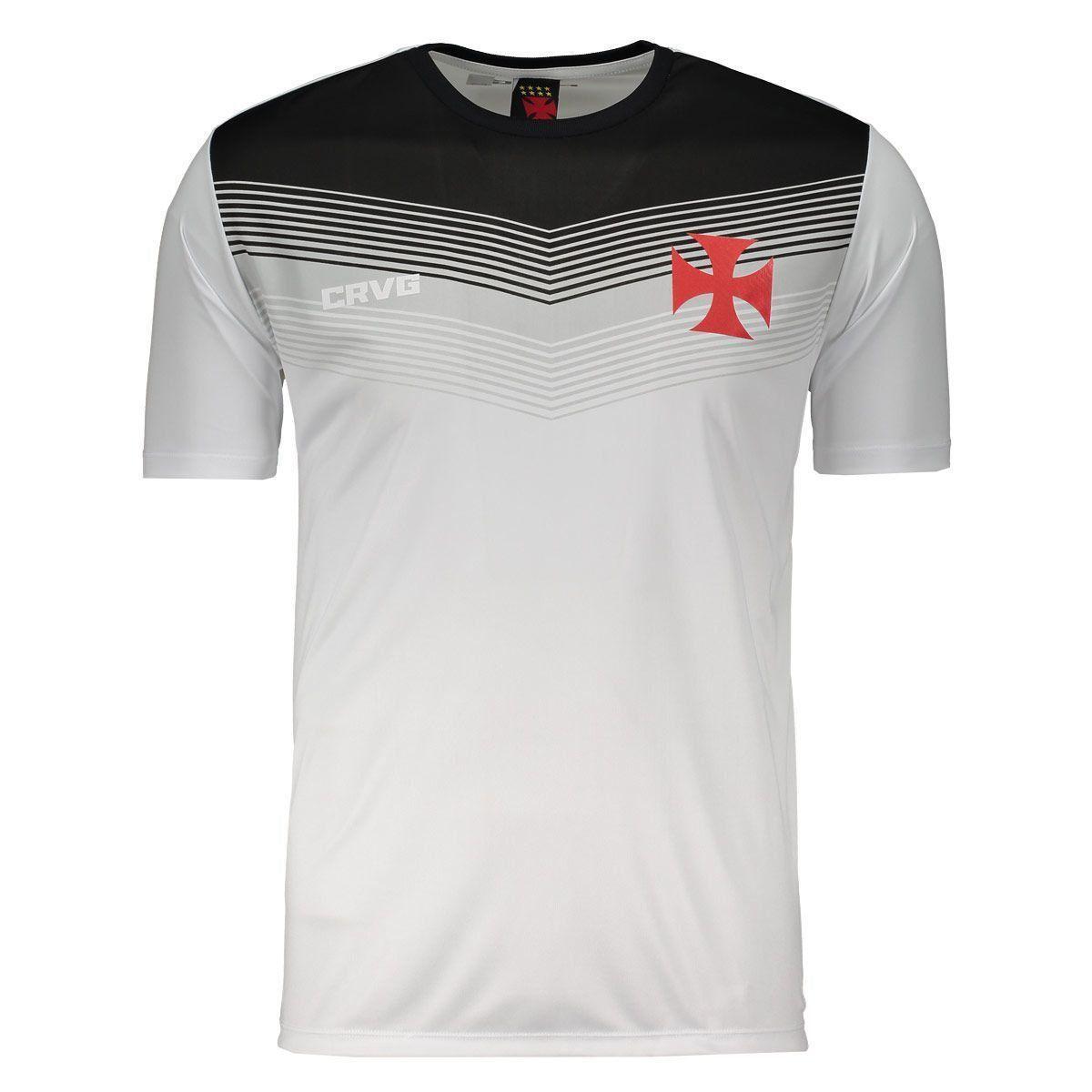 Camisa Braziline Vasco Forest Branca e Preta