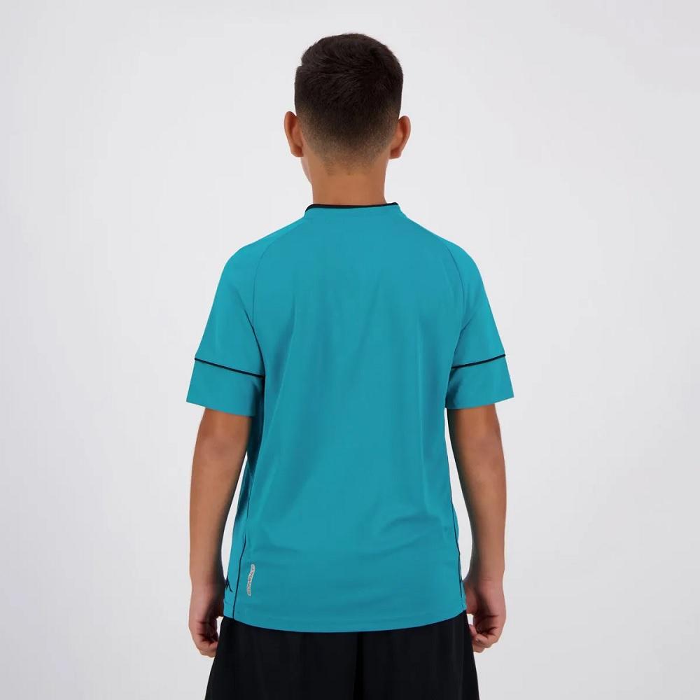 Camisa de Goleiro Vasco I 20/21 s/n° Torcedor Kappa - Infantil Azul
