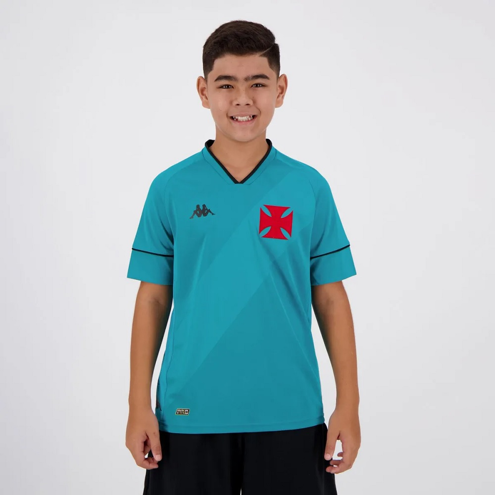 Camisa de Goleiro Vasco I 20/21 s/n° Torcedor Kappa - Juvenil Azul