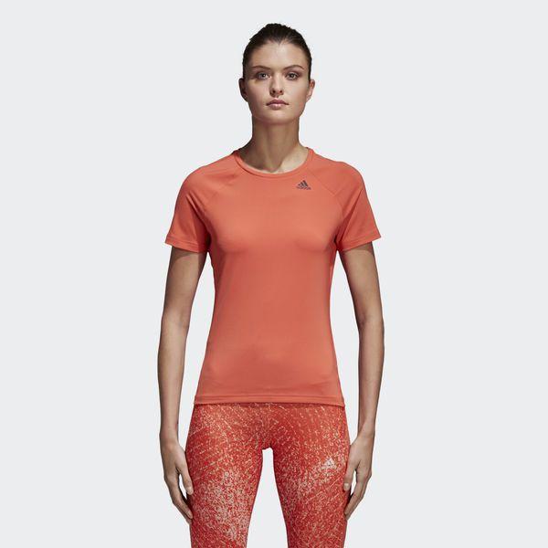 Camisa Feminina Adidas D2M Solid - Salmão