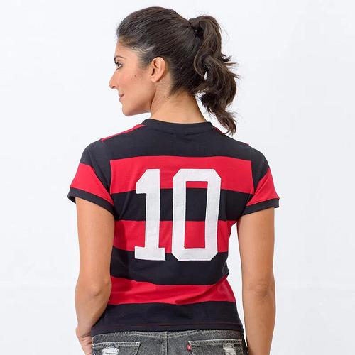 Camisa Flamengo Flatri Zico Dourado Feminina - Braziline