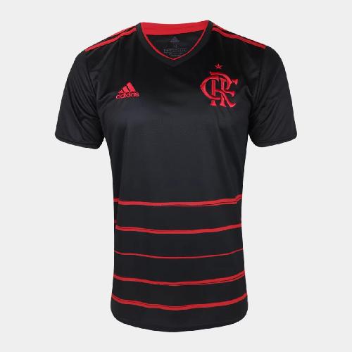 Camisa Flamengo III 20/21 s/n° Torcedor Adidas Masculina - Preto