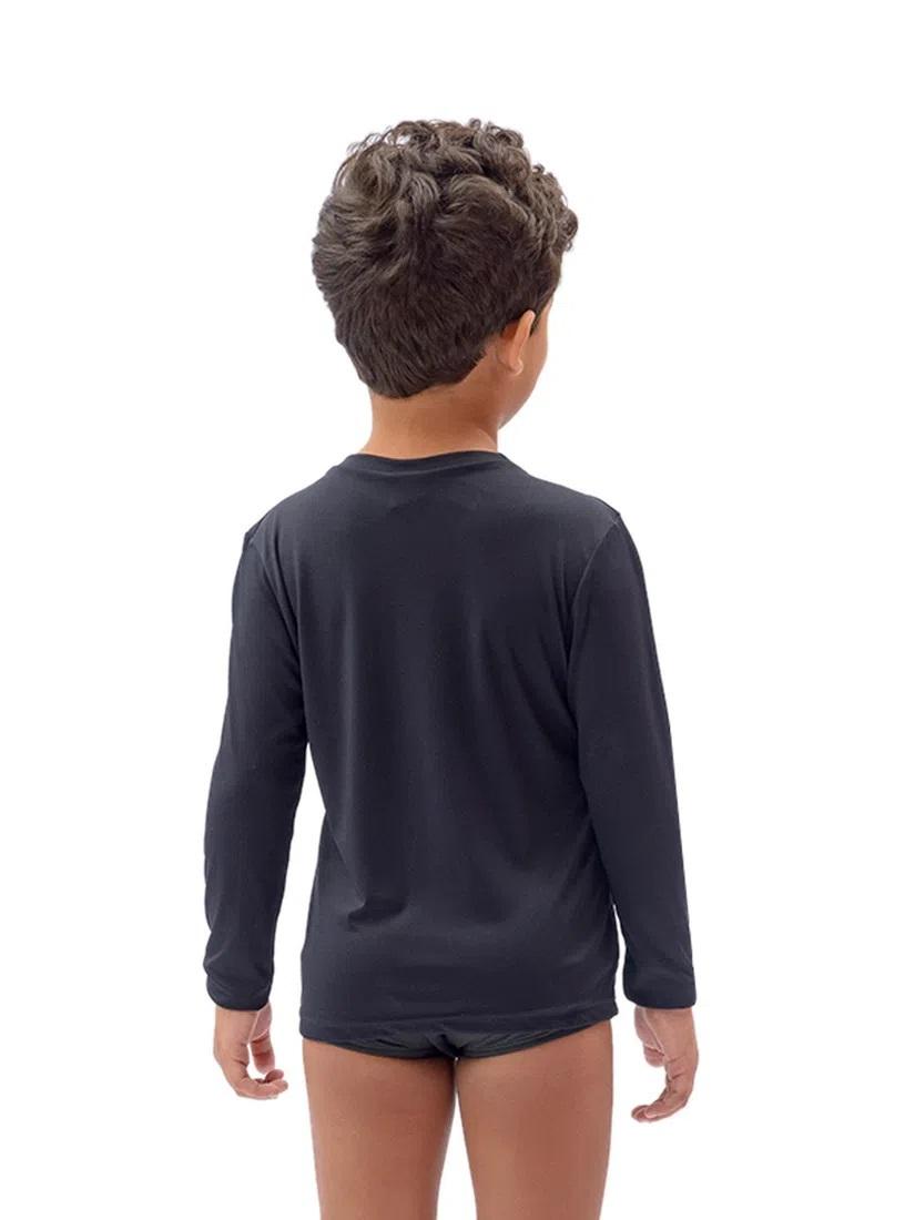 Camisa Flamengo Infantil UV50+ Balance Braziline - Preto
