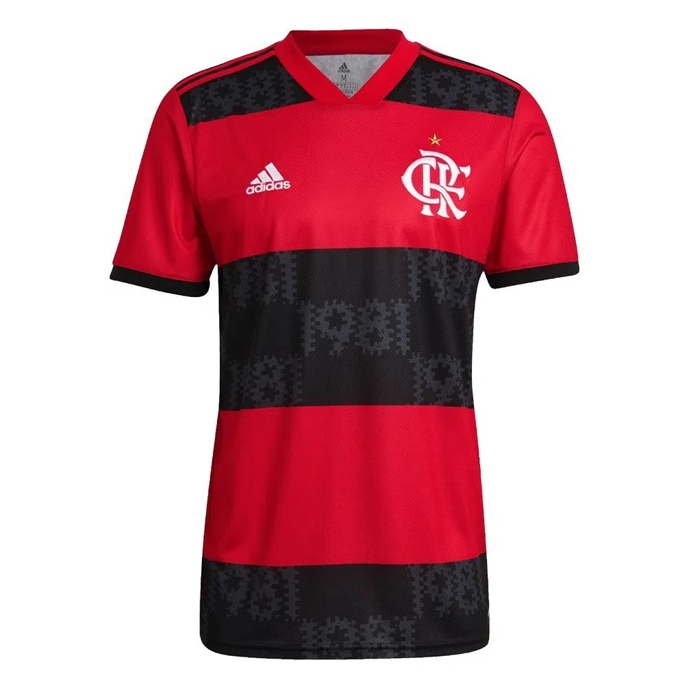 Camisa 1 CR Flamengo 21/22 Adidas - Masculina / Preta e Vermelha
