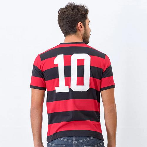Camisa Flamengo Masculina Flatri Zico Dourado - Braziline