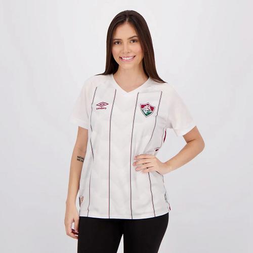Camisa Fluminense II 20/21 s/n° Torcedor Umbro Feminino - Branco