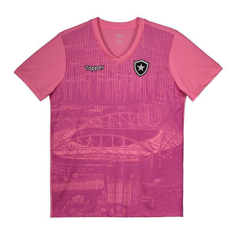 Camisa Juvenil Oficial Botafogo Outubro Rosa 2018 - Original