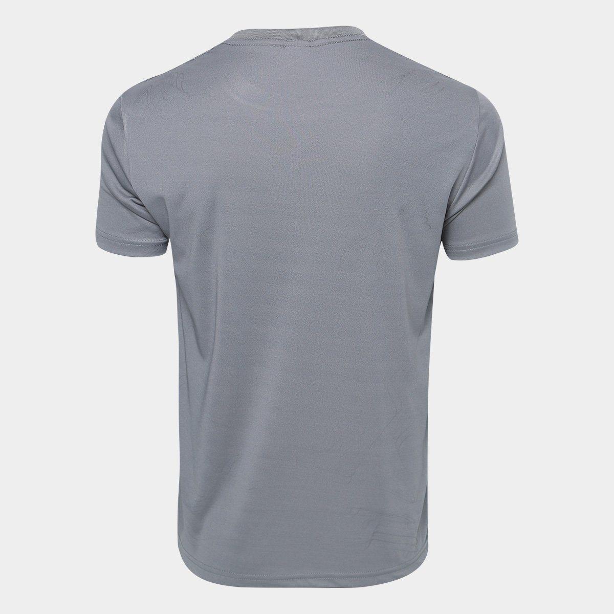 Camisa Kappa Jenner Masculina - Chumbo