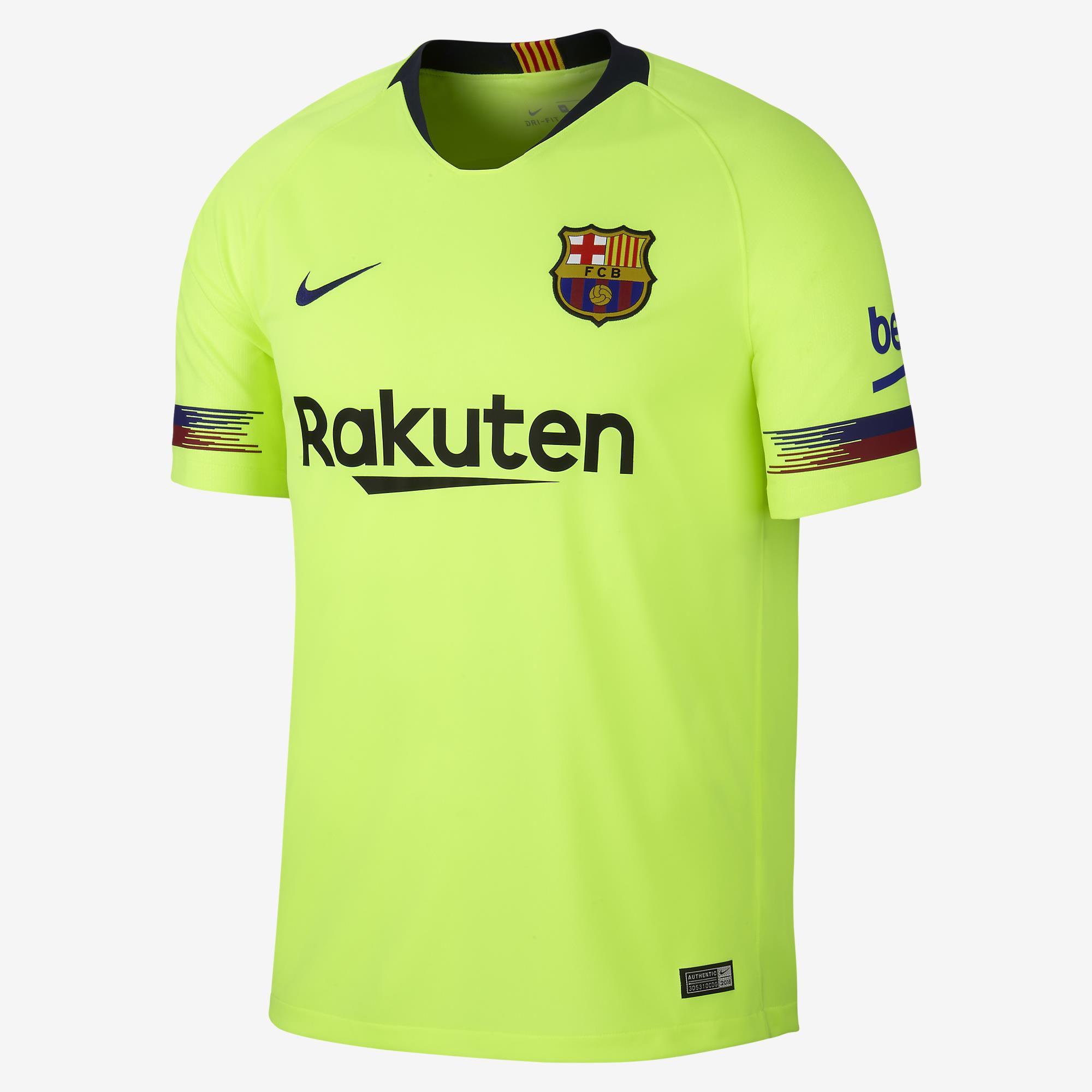 Camisa Oficial Nike Barcelona II  Amarelo