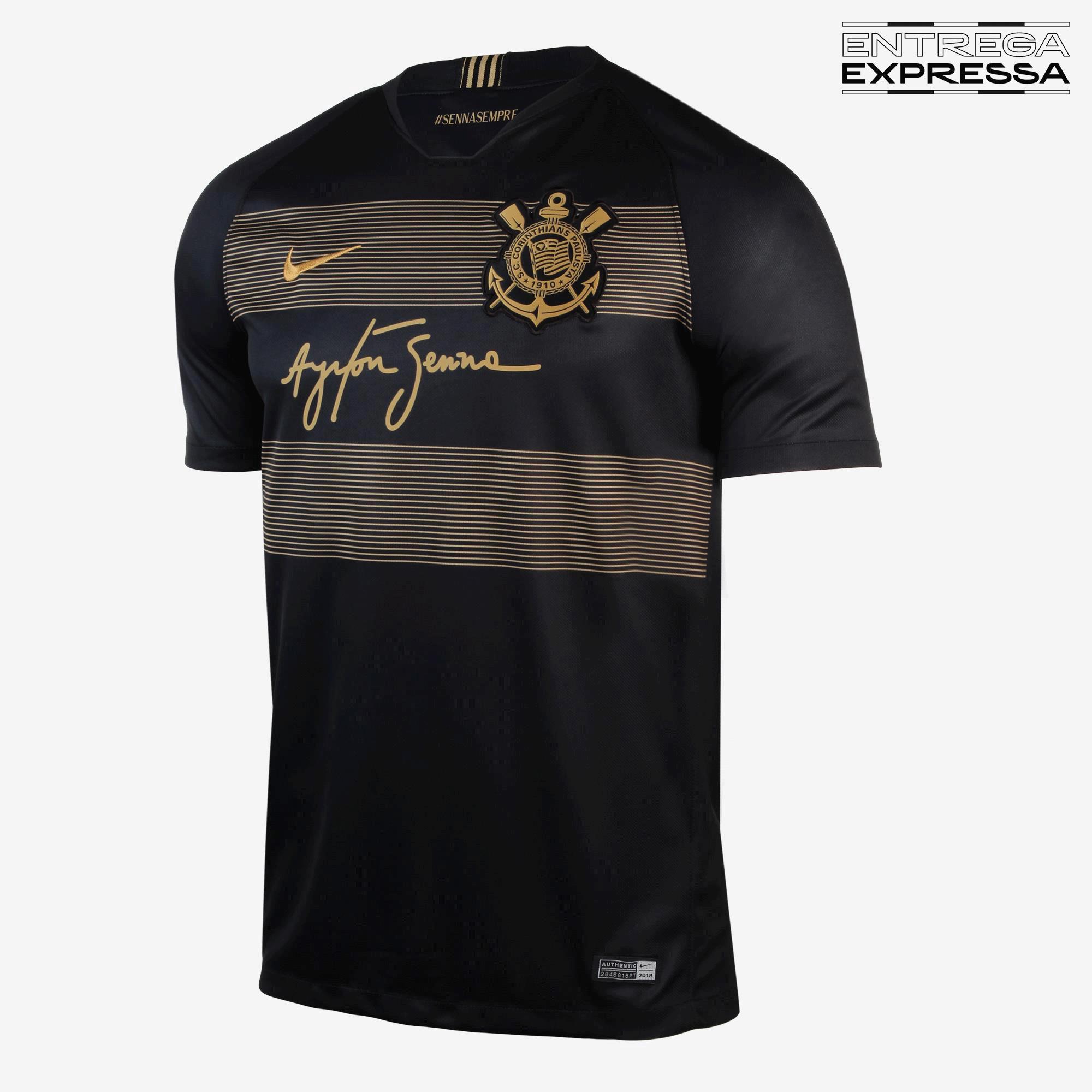 Camisa Nike Torcedor Corinthians III Preto - 2018 19 - Titanes Esportes 6223c07a6500a