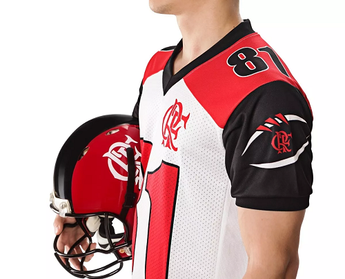 Camisa Oficial Flamengo Imperadores - Futebol Americano - Branca - Jogador