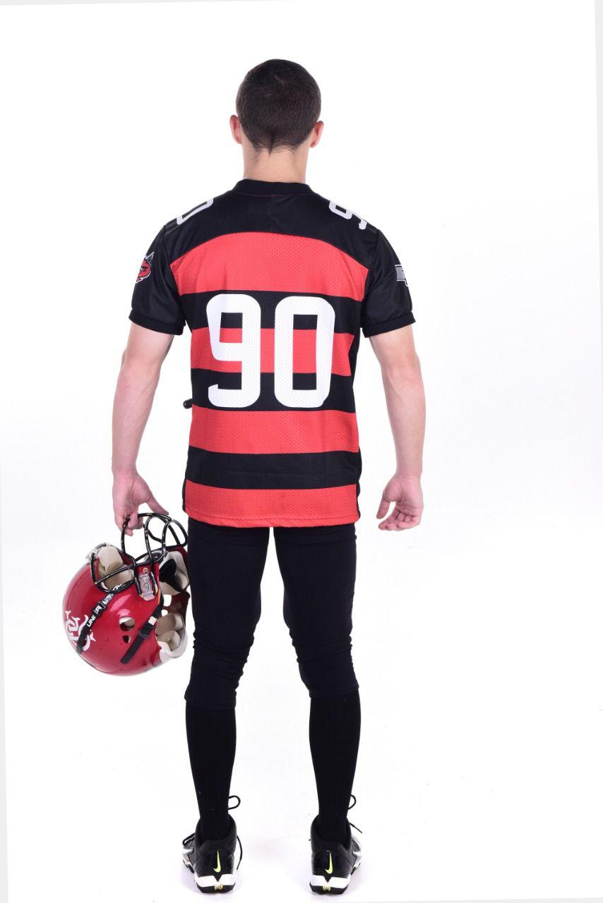 Camisa Oficial Flamengo Imperadores Futebol Americano - Rubro Negra