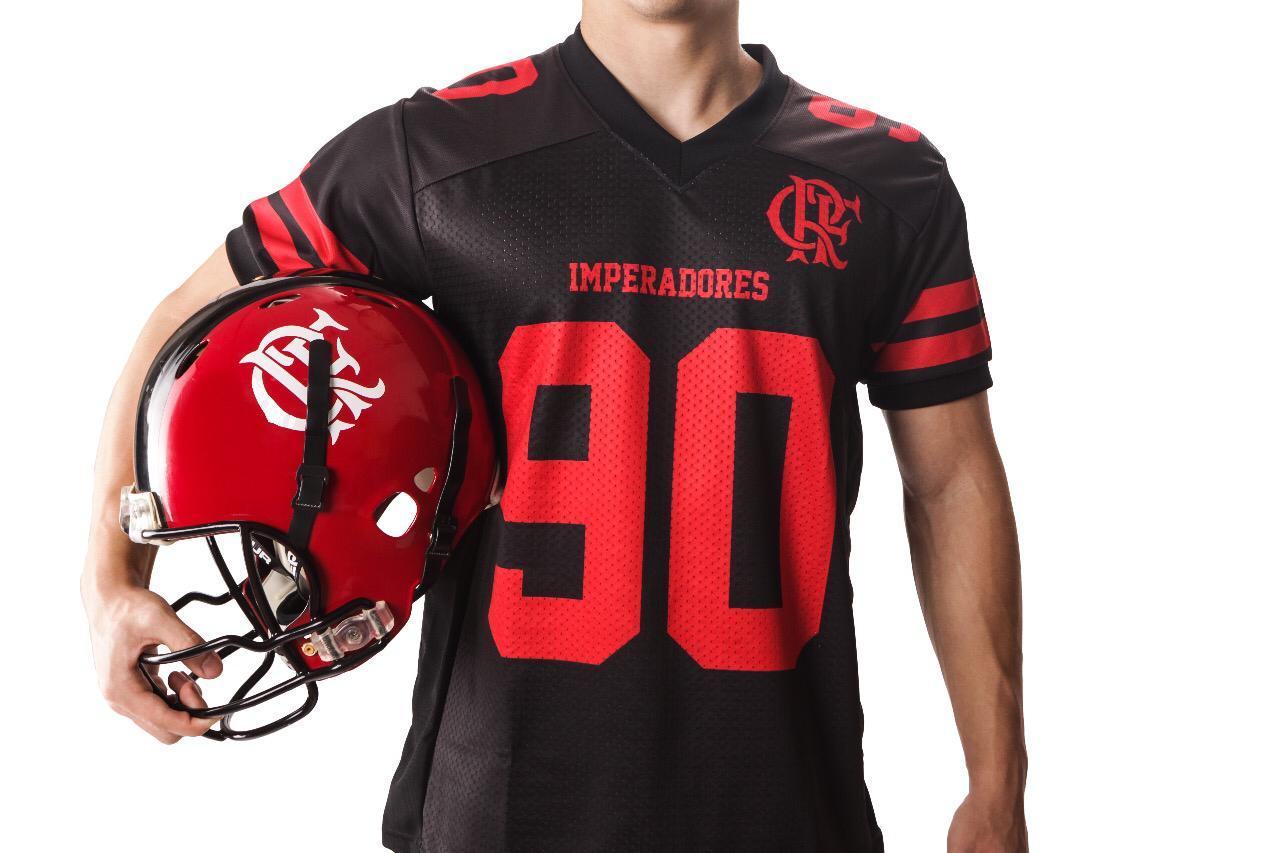 Camisa Oficial Flamengo Imperadores - Futebol Americano - Preta