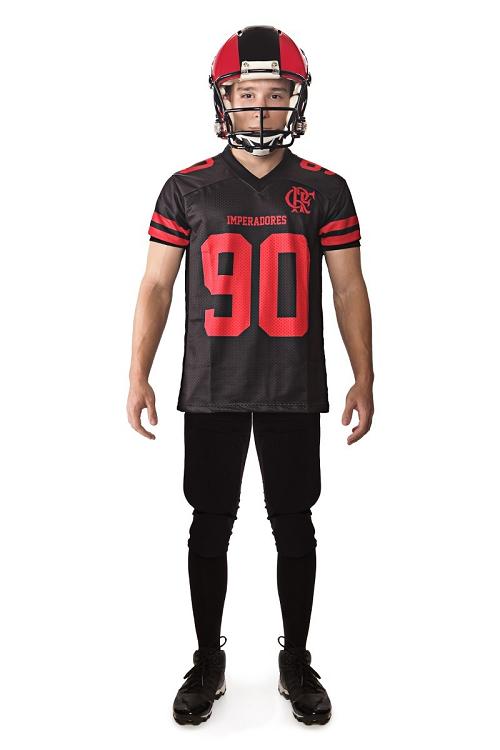 Camisa Oficial Flamengo Imperadores - Futebol Americano - Preta - Jogador