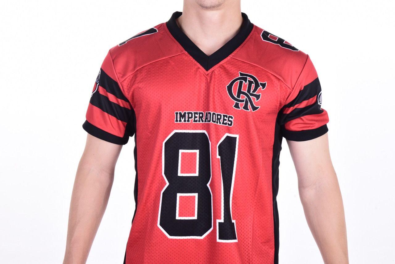 Camisa Oficial Flamengo Imperadores Futebol Americano - Vermelho