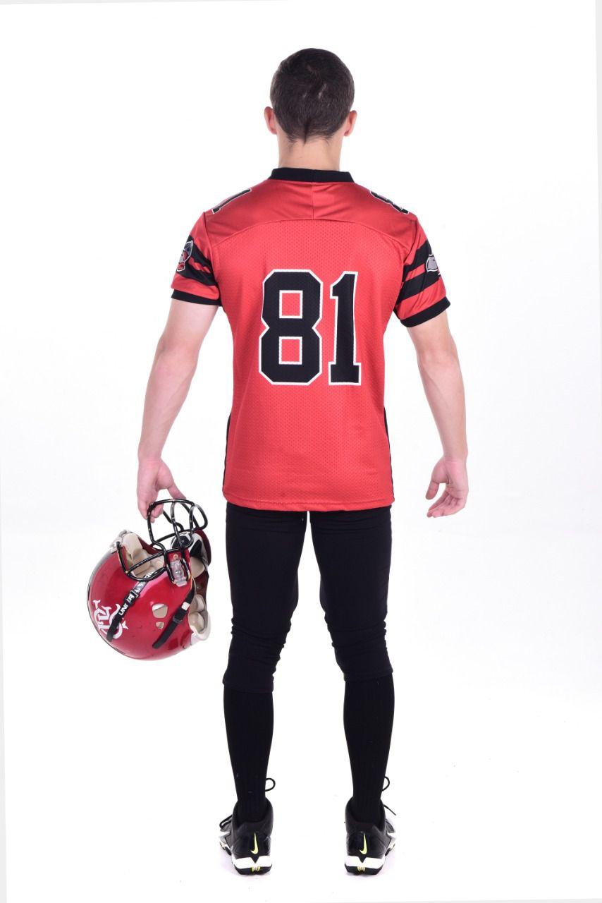 Camisa Oficial Flamengo Imperadores Futebol Americano - Vermelho - Jogador
