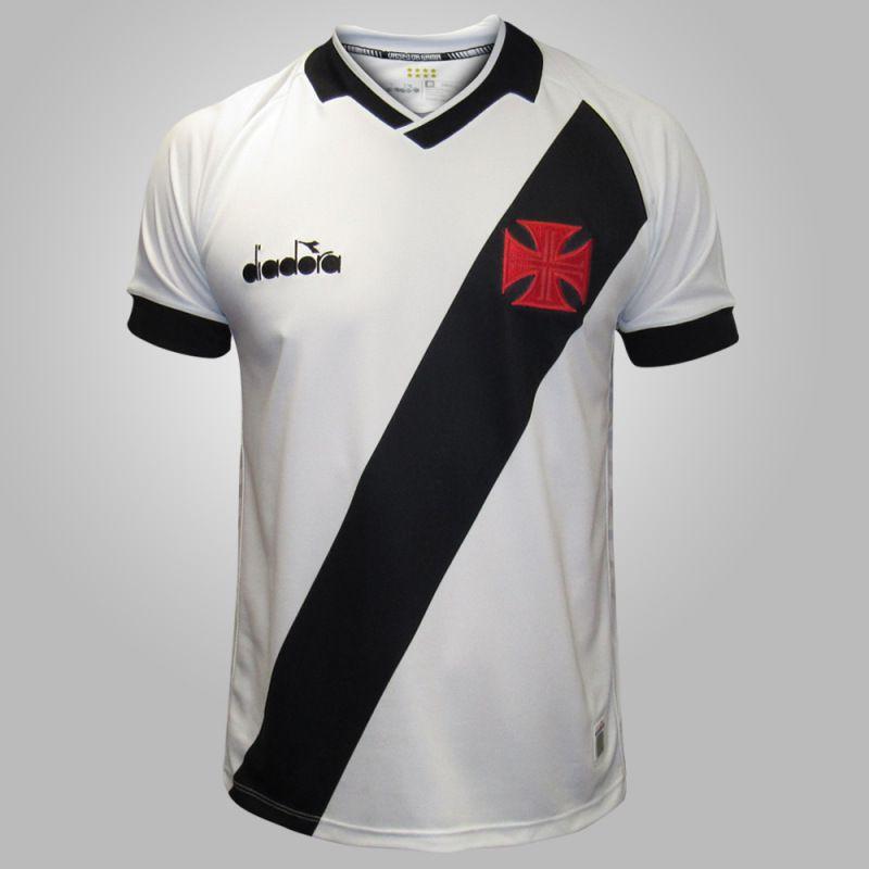 762bc6e47 Camisa Oficial Vasco 2 Diadora Fan Branca - 2019 - Titanes Esportes