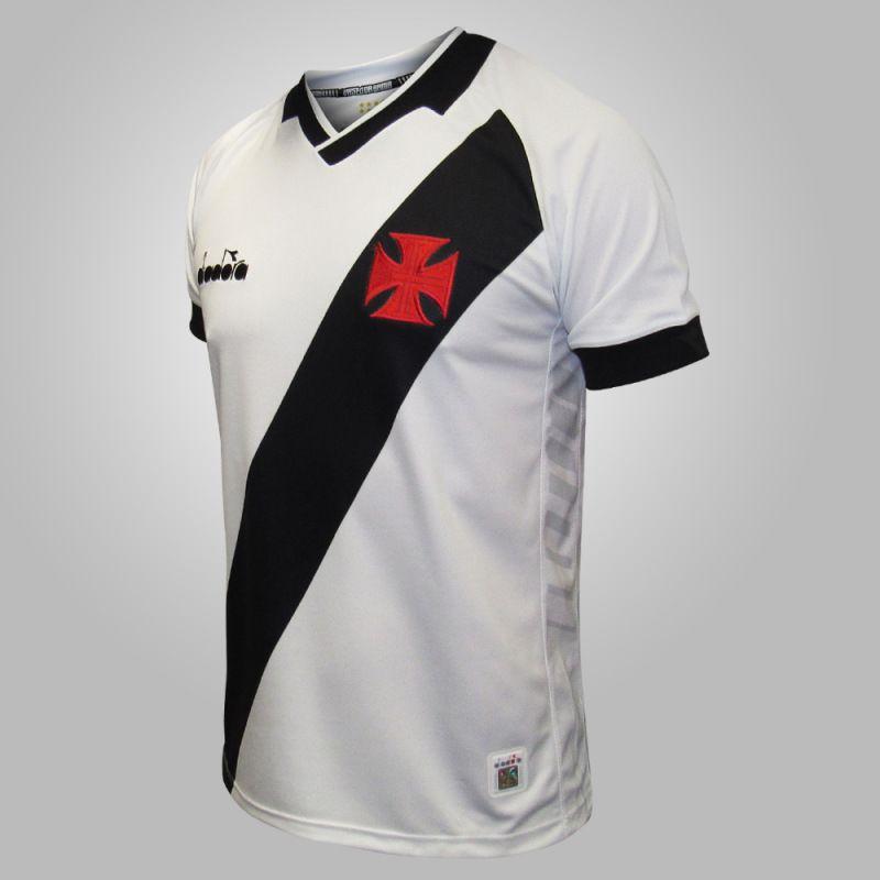 Camisa Oficial Vasco 2 Diadora Fan Branca