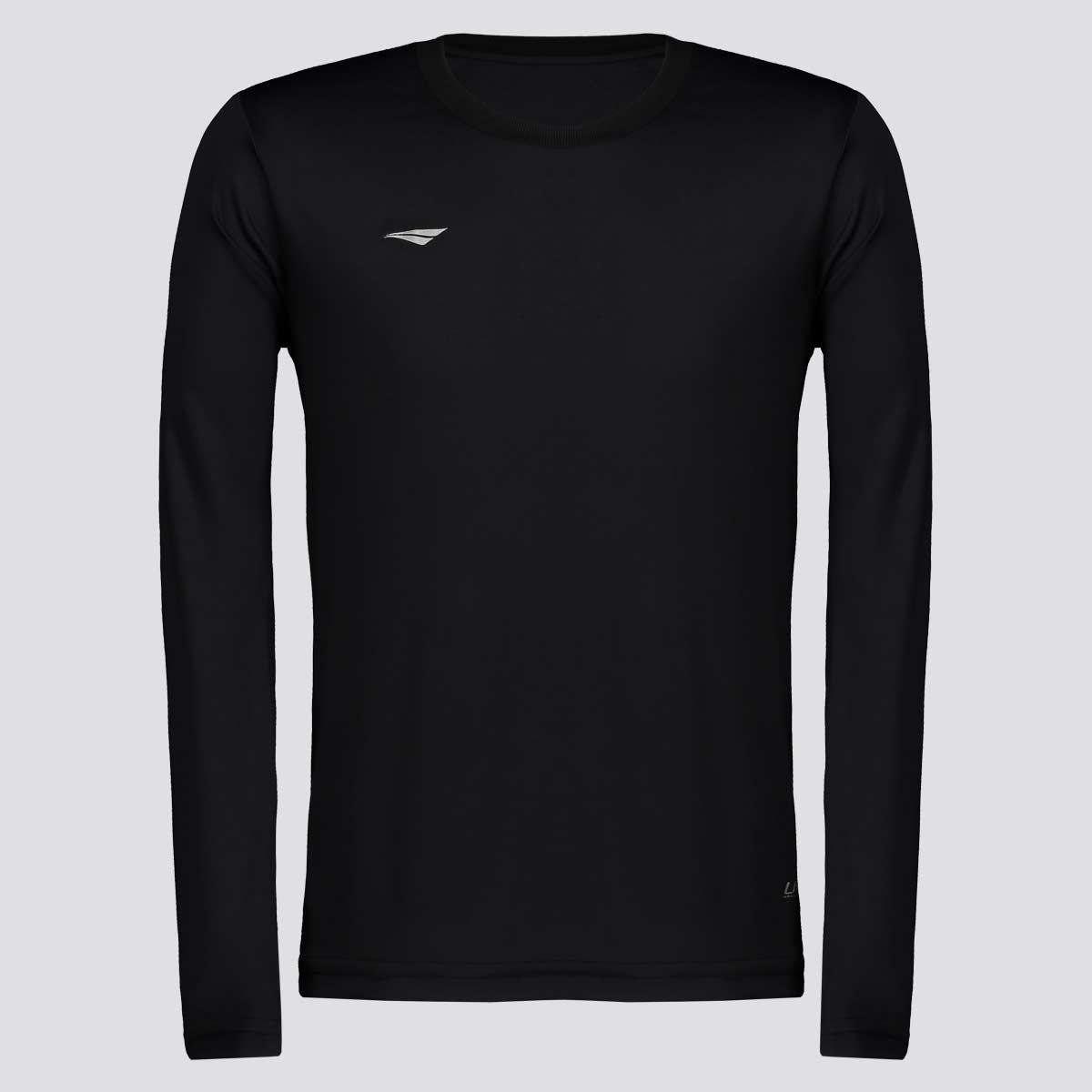 Camisa Penalty Matís Manga Longa Juvenil - Preto