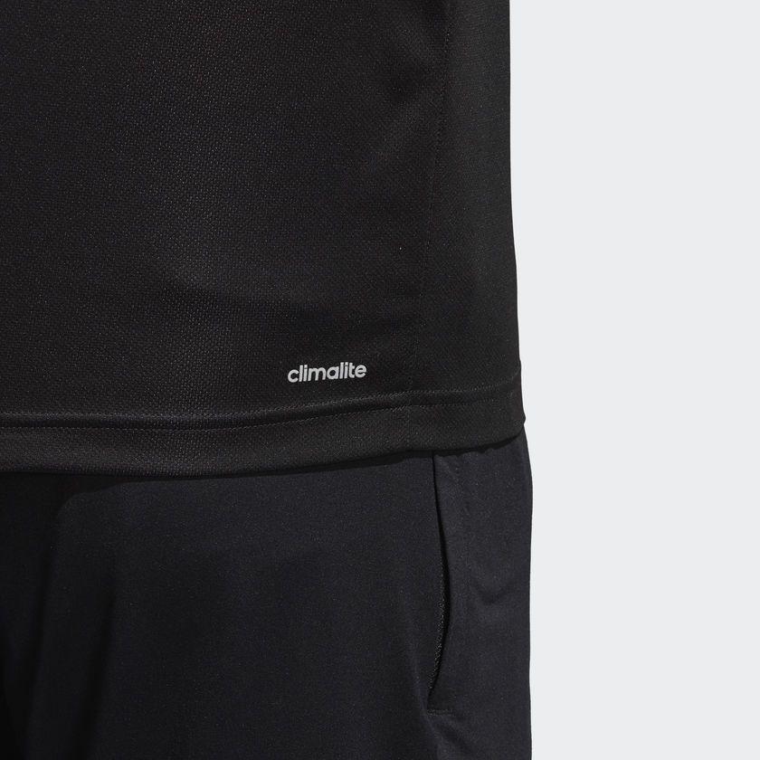 Camisa Polo Adidas Masculina D2M - Preta