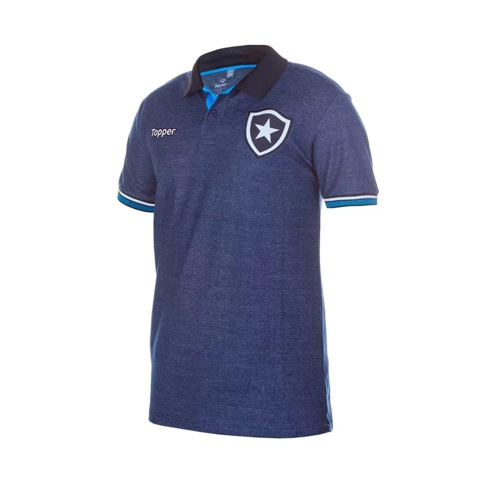 Camisa Polo Botafogo Viagem Topper - Azul Marinho