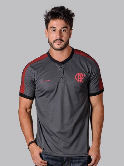 46f2692765efc Camisa Polo Braziline Squid Flamengo - Cinza - Titanes Esportes
