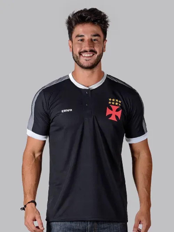 Camisa Polo Vasco Squid Braziline - Masculina Preta