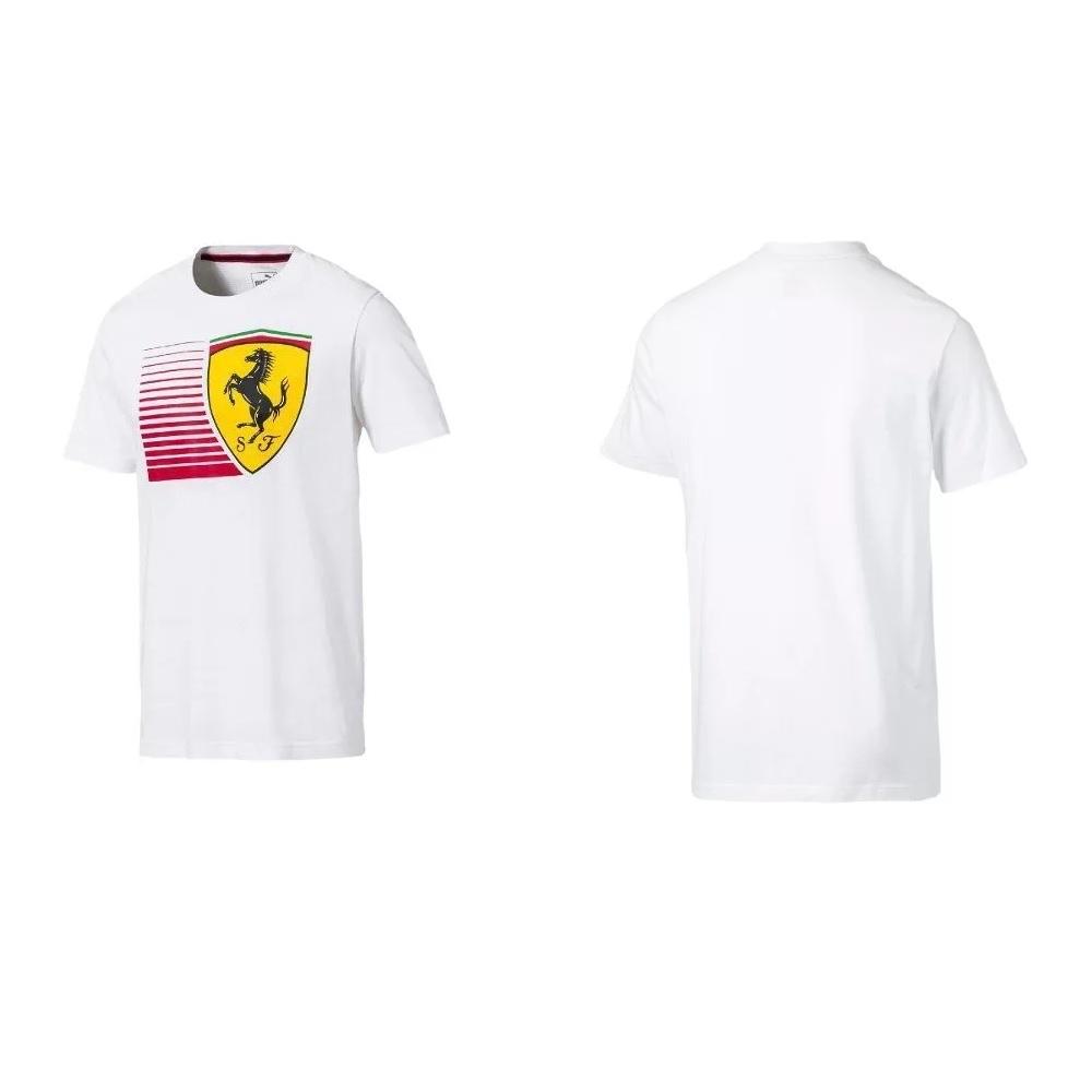 Camisa Puma Scuderia Ferrari Big Shield Tee Motorsport - Branco