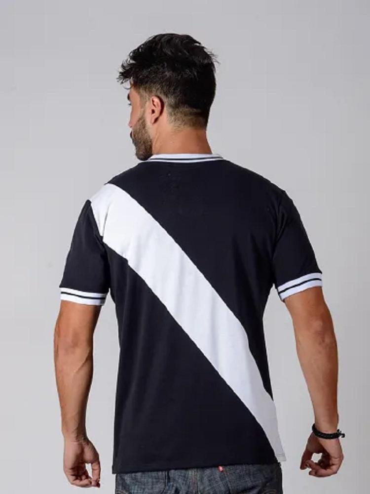 Camisa Vasco 74 Retrô Braziline - Preto