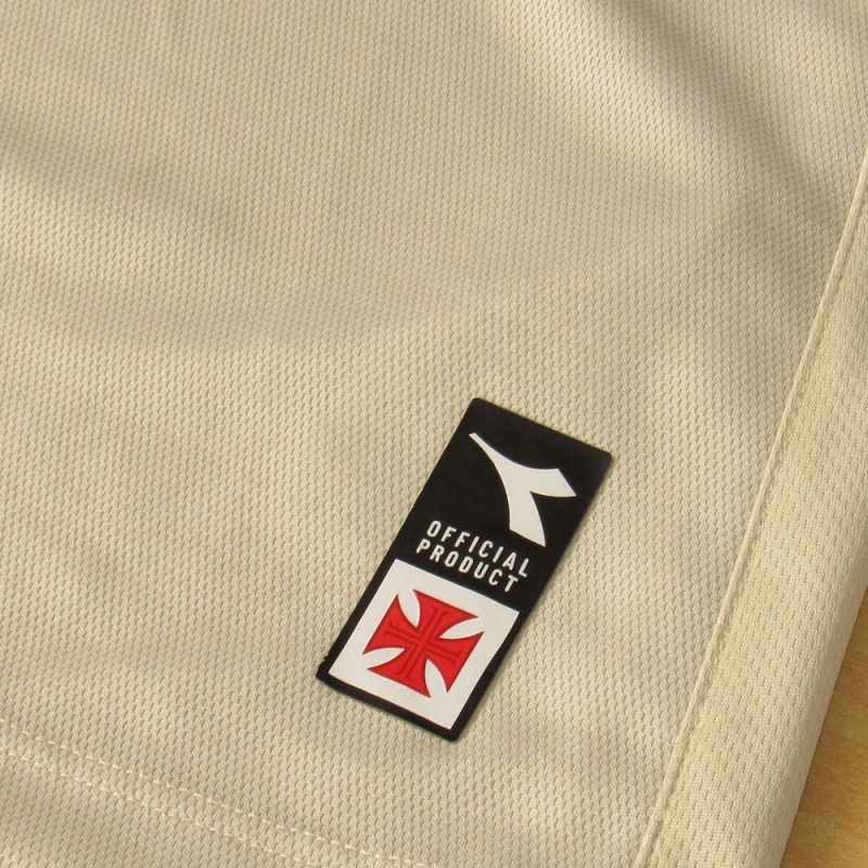 Camisa Vasco Diadora Feminina Oficial 3 - Bege