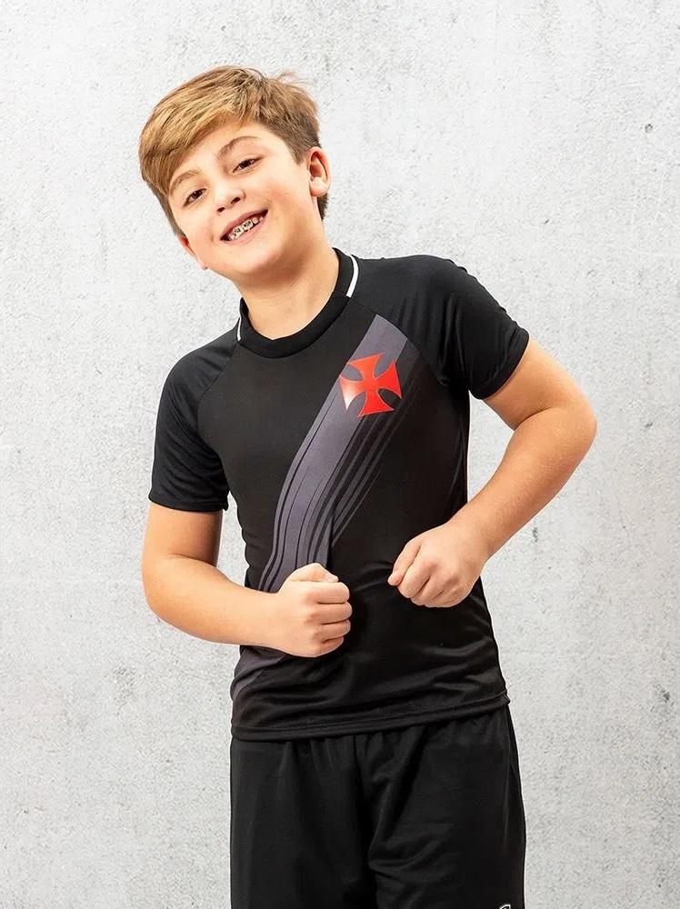 Camisa Vasco Honda Braziline - Infantil Preta