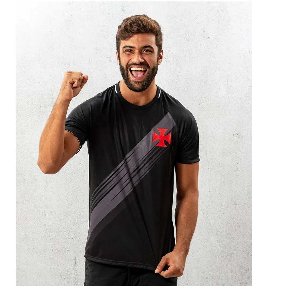 Camisa Vasco Honda Braziline Masculina - Preta