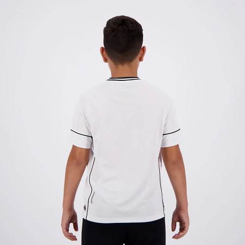 Camisa Vasco Kombat I Player Home 2020 Kappa - Infantil Branca