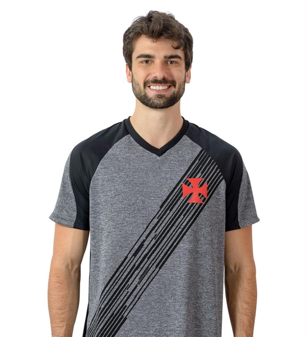 Camisa Vasco Motion Braziline - Adulto Mesclada