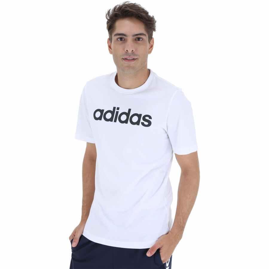 Camiseta adidas Essentials Linear Tee Branca - Masculina
