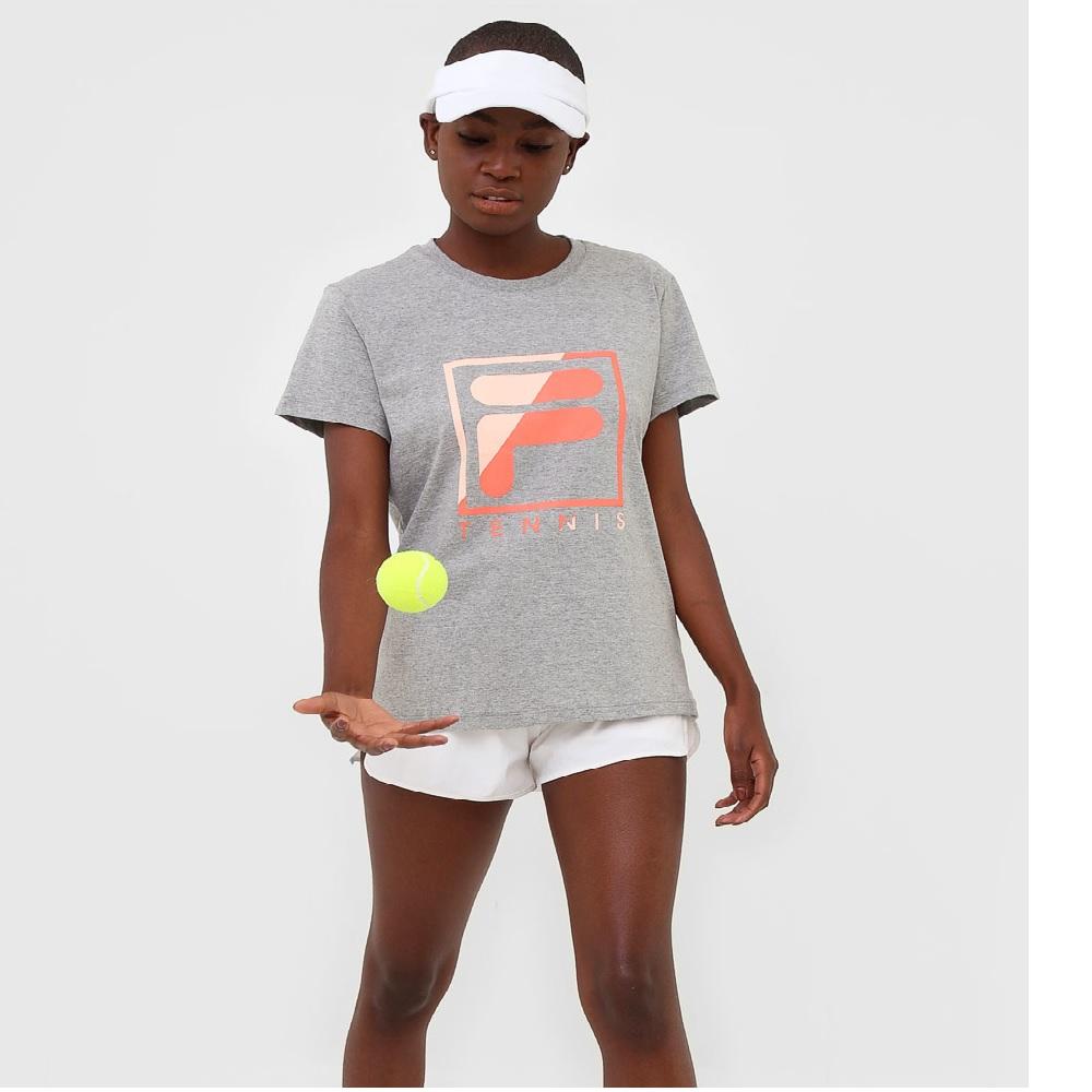 Camiseta Feminina Fila Soft Urban Acqua - Cinza