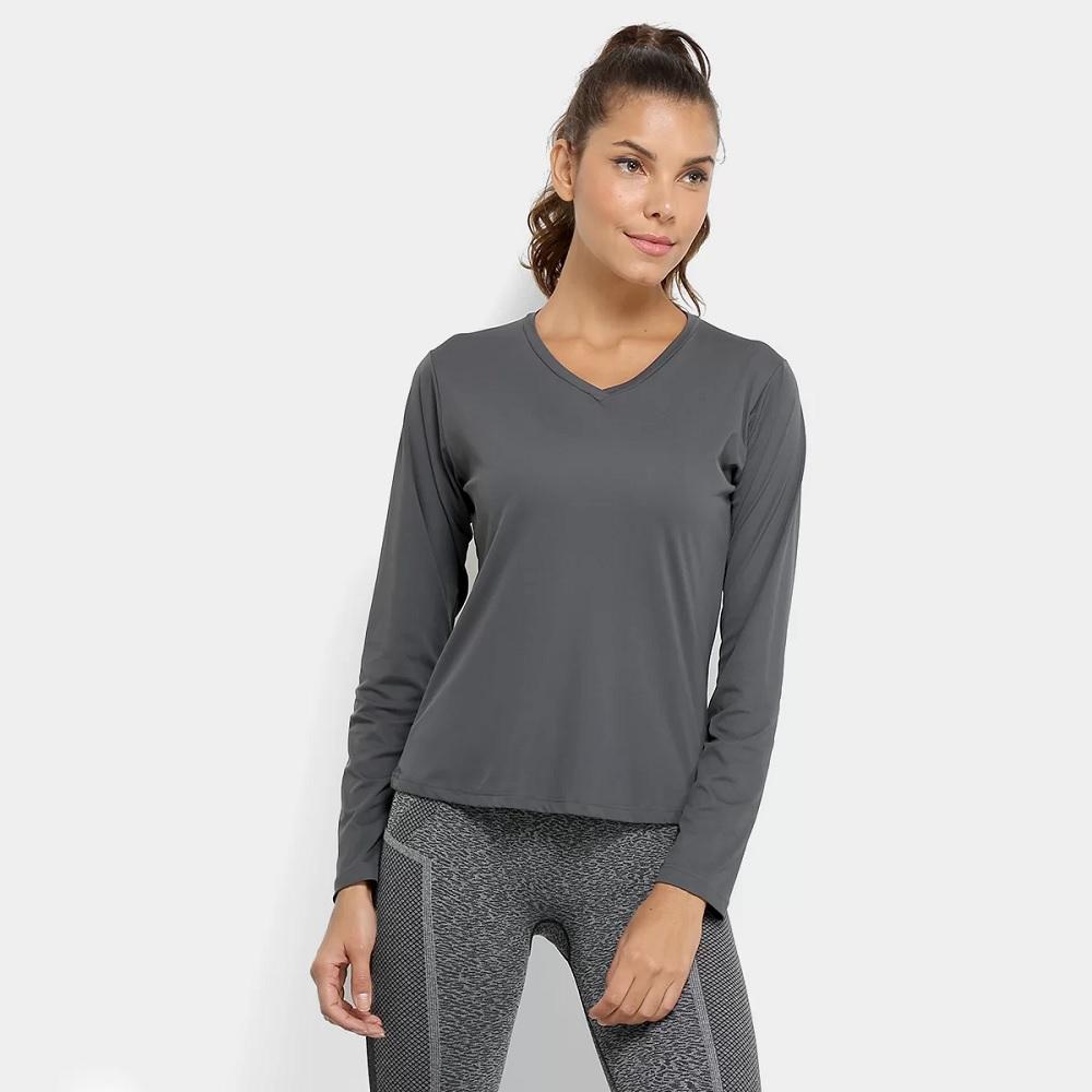 Camiseta Lupo AF Repelente UV - 77028 - Grafite