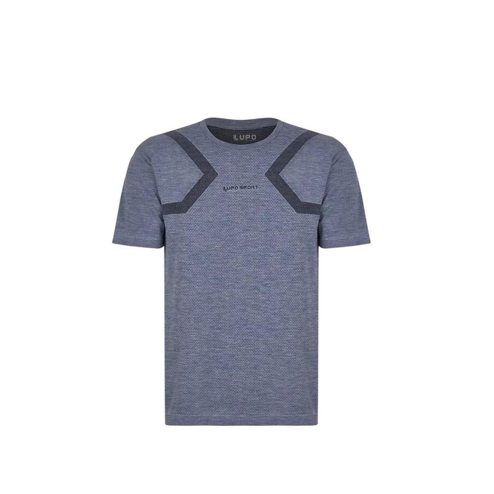 Camiseta Lupo Seamless Mescla - 70696 - Masculina - Azul