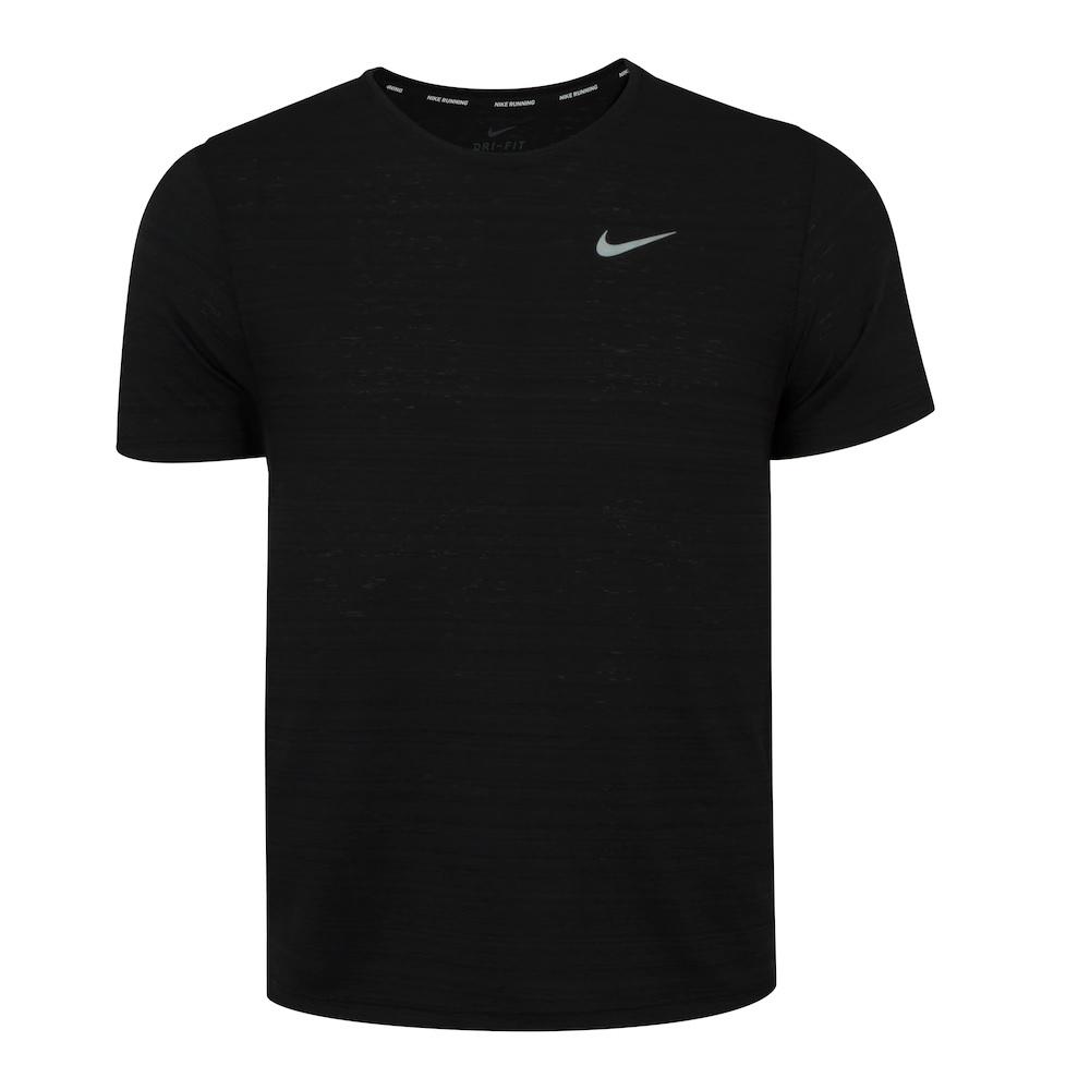 Camiseta Nike Dry Fit Miler To SS - Masculina - Preta