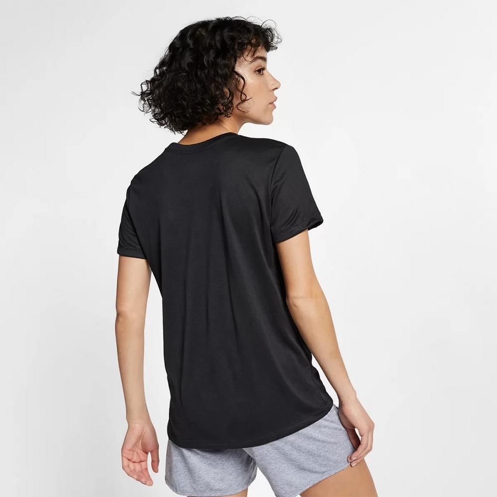 Camiseta Nike Dry Leg Tee Crew Feminina - Preta